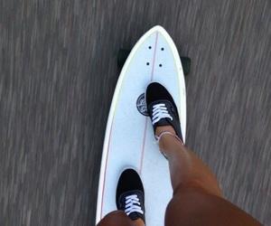 vans, summer, and longboard image