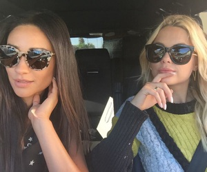 shay mitchell, pretty little liars, and ashley benson image