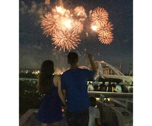 boyfriend, couple, and firework image