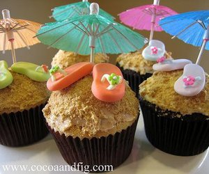 cupcakes, summer, and heart image