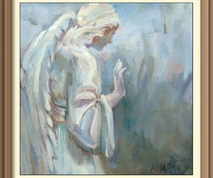 angel and painting image