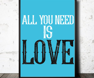 all you need is love, etsy, and typography image