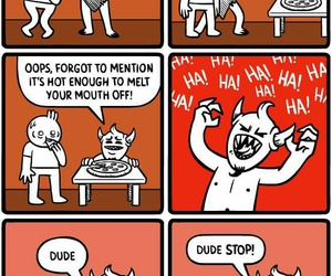 hell, lol, and pizza image