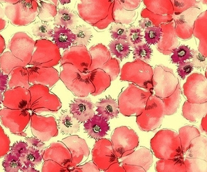 background, flowers, and red flowers image