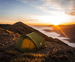 camping, lights, and travel image