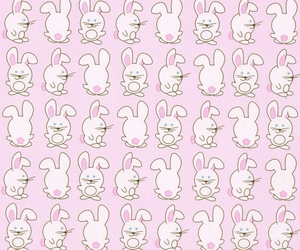 bunny, wallpaper, and pink image