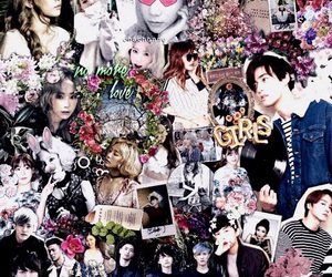 edit, flowers, and girls generation image