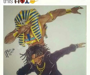 art, dope, and king tut image