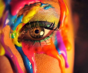 colorful, cool, and eye image