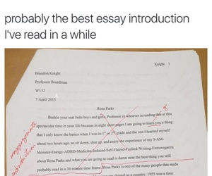 funny, essay, and school image