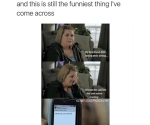 funny, 😂, and texting while driving image