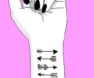 arrows, dark, and hand image