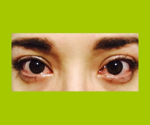 eyes, green, and reds image