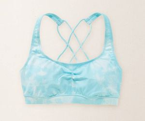 blue, bra, and sports image