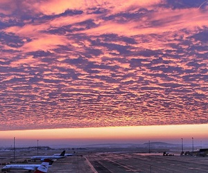 airplanes, airport, and sky image