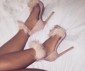 fur, heels, and shoes image