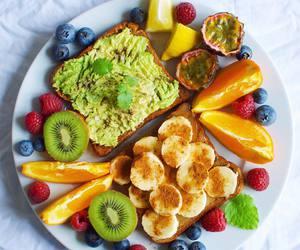 avocado, banana, and breakfast image