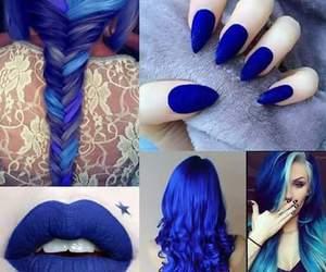 blue, hair, and nails image