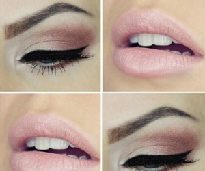makeup, lips, and pink image