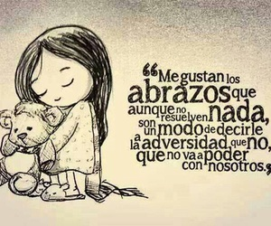 love, frases, and abrazos image