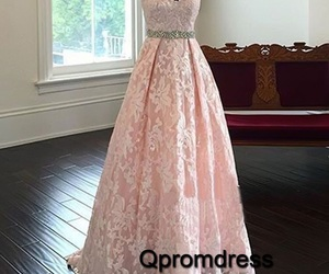lace, maxi dress, and pink image