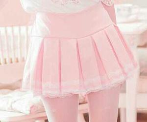 pink, skirt, and kawaii image