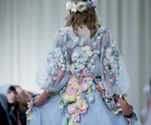 fashion, flowers, and Marchesa image