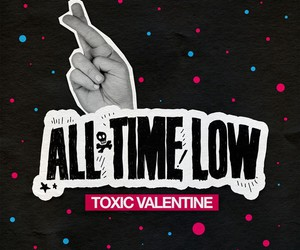 all time low, toxic valentine, and music image
