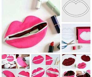 diy, lips, and pink image