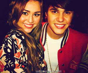 justin bieber, jiley, and miley cyrus image