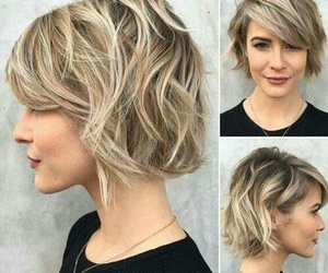 short hair, blonde, and hairstyle image