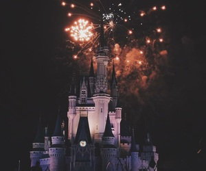 castle, fireworks, and magic image