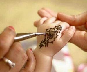 design, henna, and kids image