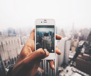 city, iphone, and new york image