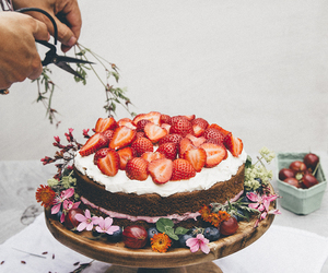 baking, flowers, and cake image