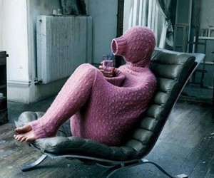 pink, sweater, and cold image
