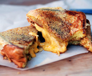 food, grilled cheese, and sandwich image