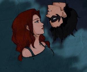 batgirl, batman, and couple image