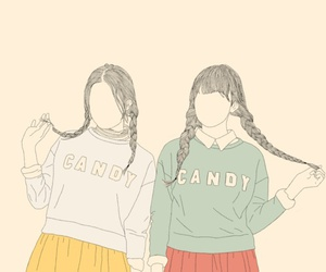 girl, art, and candy image