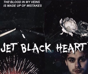 5sos and jet black heart image