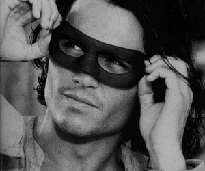 johnny depp, mask, and Hot image