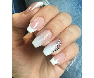 nails, sparkle, and frenchmanicure image