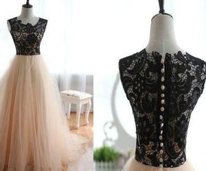 prom dress, lace prom gown, and prom dress 2016 image