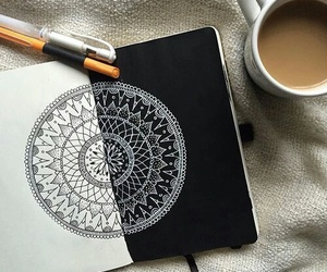 art, mandala, and drawing image