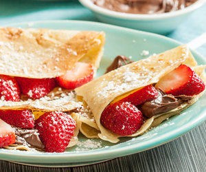 chocolate, sweets, and crepe image
