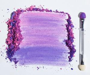 make up, makeup, and purple image