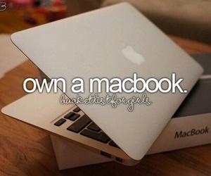 macbook, apple, and bucket list image
