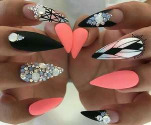 inspiration, nails, and neon pink image
