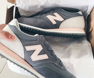 new balance, grey, and shoes image