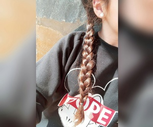 braiding, dope, and girl image